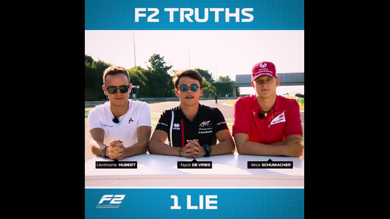 Formula Two truths one lie | Mick Schumacher, Nyck de Vries, Anthoine Hubert 😇 Two truths, one lie 😈