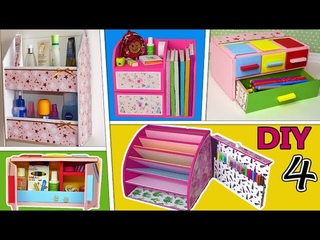 amazing ideas for organizers and pencil case made of regular cardboard
