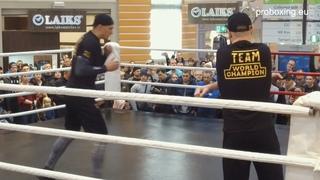 Разминка и бой с тенью. Открытая тренировка Александра Усика.  @Real Boxing Show