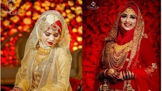Hijab Tutorial for Wedding Bride with Lehenga Jewellery   Hijaab Fashions