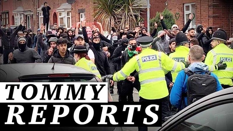 Muslim rioters ATTACK Tommy Robinson voters with bottles bricks in Oldham Jessica Swietoniowski
