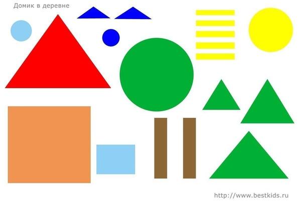 АППЛИКАЦИЯ ИЗ ГЕОМЕТРИЧЕСКИХ ФИГУР Геометрическая аппликация учит детей понятиям формы и размера, развивает ассоциативное мышление, учит видеть основные формы в сложных