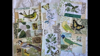 #The100DayProject | Day 50: collaged postcards colour green | Inspired by : springtime cloves