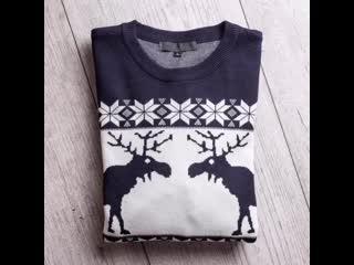 Новогодние джемпера с оленями от @ noho_room  Отличный вариант для family look Хороший вариант подарка для вашего парня/м