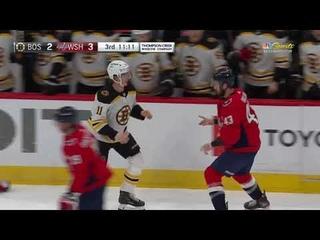 Tom Wilson VS Trent Frederic Fight Boston Bruins At Washington Capitals