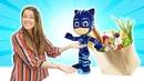 Los juguetes van de compras. Guardería Infantil. PJ Masks-Héroes en pijama. Vídeos para niños.