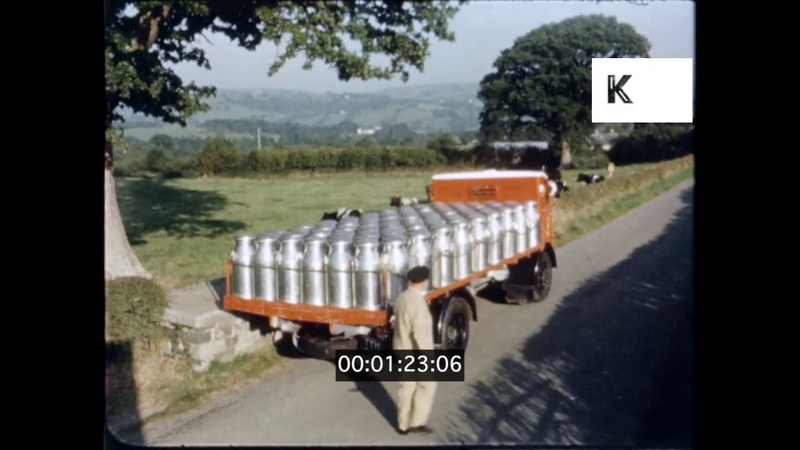 1950s 1960s UK Dairy Farm Milk Collection 16mm