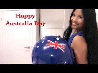 Australia Day Balloons and Beach Ball Australia Day Celebration Many Popping Styles