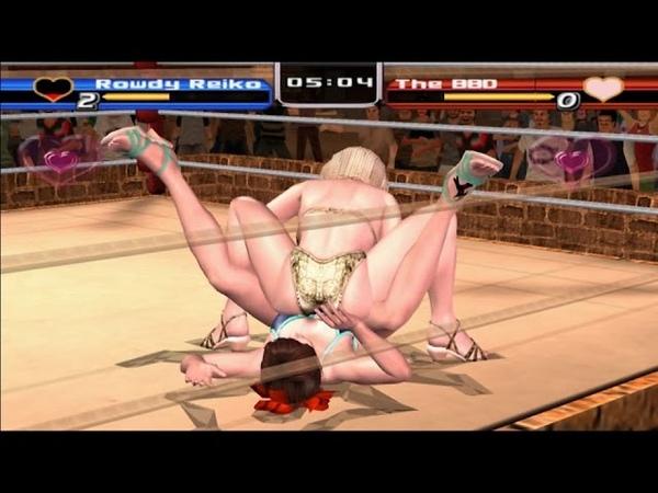 PCSX2 PS2 Rumble Roses Normal Match Rowdy Reiko Game Play 플스2 럼블 로즈 일반 매치 게임 플레이