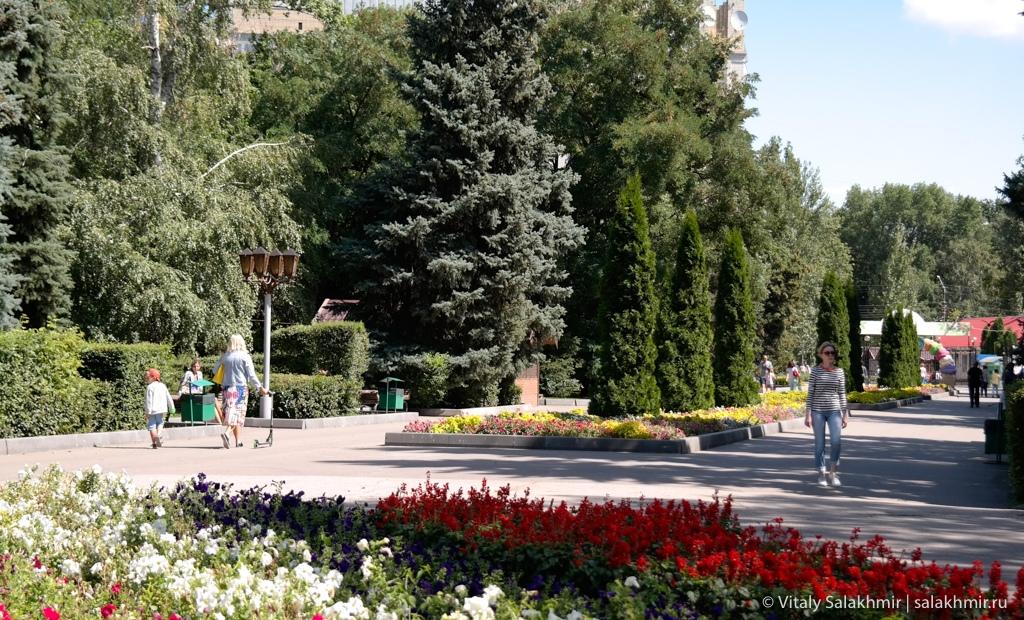 Обзор центрального парка города Саратов, 2020