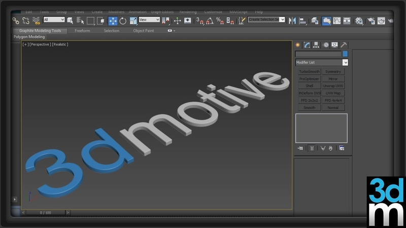 Creating Simple High Poly Text in 3ds Max - 3dmotive