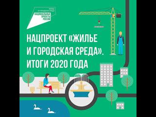Нацпроект «Жильё и городская среда». Итоги 2020 года.