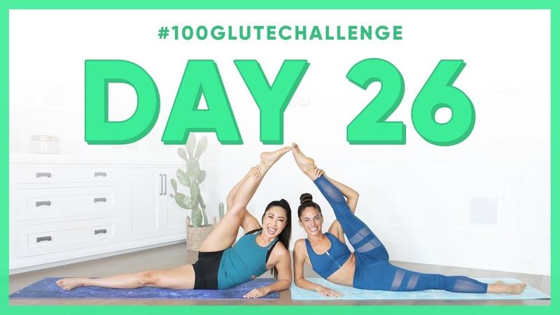 Day 26 Parachuter Legs!   100 Glute Challenge w Kylie Shea