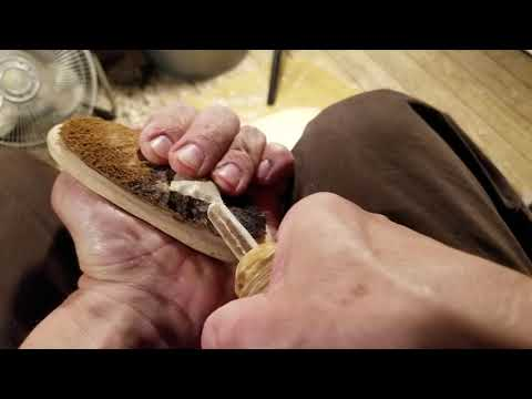 Abo Flintknapping Practice Punch Notching and Serrations