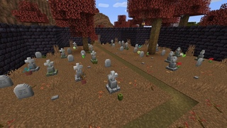 Minecraft Relaxing Graveyard Birdsong Ambience with music (Trick or Treat?)
