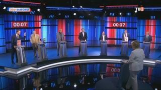 Дебаты на ТВЦ – Денис Парфенов против Жириновского, Рыжкова и других